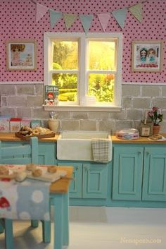 Dollhouse kitchen in 1/12 scale