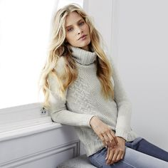 Cable Rollneck Jumper | The White Company