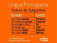 Lingua Portuguesa - Futuro do Subjuntivo