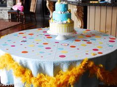 Rubber Ducky party ducky cake table