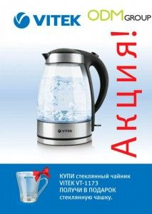 Gift with Purchase in Russia by Vitek: Glass