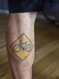 bicycle tattoo. For my other calf.