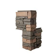 Mobile Home//RV Novik Brown Blend Simulated Brick Outside Corner 5 Pieces