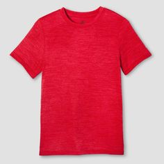 Boys' Tech T-Shirt Red Heather XS - C9 Champion, Toddler Boy's