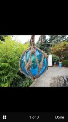Japanese Blown Glass Buoy Ornament
