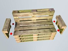 How to make a bank with pallets step by step 5 diy pallet, diy pallet sofa, diy pallet bed, diy pall