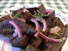 Marinovaná játra Beef, Kitchen, Desserts, Food, Meat, Cucina, Tailgate Desserts, Cooking, Deserts
