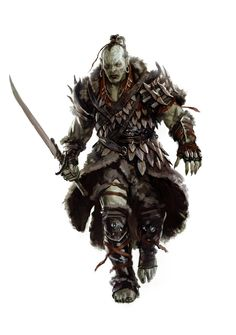 ADVENTURE 2: Mercenary: Gorgath: Hostile: Race, Orc: Class: Berserk: He leaves with the hunting party (note: if his father Azolg is killed, he will get 2 turns for his anger)