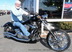 Bill on his custom Honda Fury