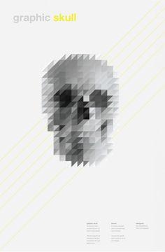 crazy graphic skull