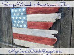 From My Love 2 CreateScrap Wood American Flag