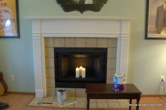 ceramic tile fireplace changed - Google Search