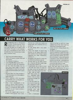 """Article titled """"Personal Kit"""" by Pat Rogers in the October 2011 issue of SWAT magazine by Jones Tactical, via Flickr"""
