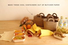 diy picnic baskets out of butcher paper