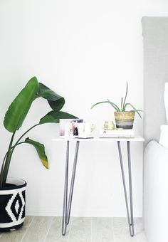 This DIY marble side table will take you a matter of minutes ... literally. There is one step...