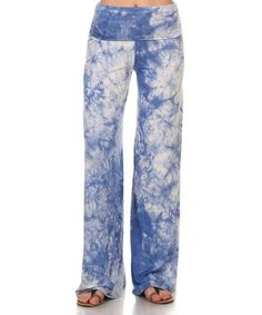 Look what I found on #zulily! Blue Tie-Dye Palazzo Pants #zulilyfinds