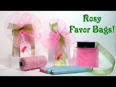 Easy Rosy Favor Bags