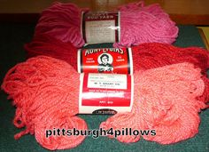 3   Aunt Lydia & Grant  Rug Yarn   Assorted by pittsburgh4pillows