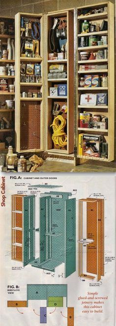 Giant Shop Cabinet Plans - Workshop Solutions Plans, Tips and Tricks | WoodArchivist.com