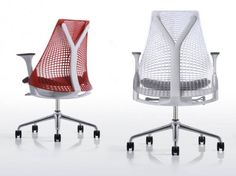Perfect ergonomic office chair. In addition to being beautiful and comfortable, the chair is made from 21% recycled content. Designed by Herman Miller & Yves Behar