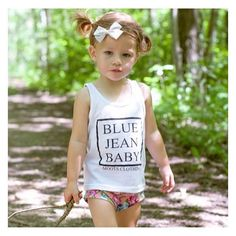 Blue jean baby @atheanaandmommy is strutting her stuff in this tank. 😻  #cutekidsclub #igfashion #kidzootd #instagram_kids #trendykiddies #babiesofinstagram #kidzfashion #kidslookbook #kids_stylezz #thechildrenoftheworld #igkiddies #flylittleguy #igfashion #kidzootd #instagram_kids #kidsfashion #toddlerfashion