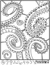 Free doodle pages to color.  discovery pictures. Find the hidden object, color, fine motor.