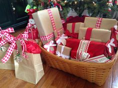 use a bAsket to carry gifts