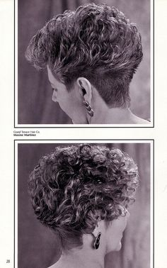 Classic Cut ✂ And Color Styled By Greens Blackhairstyles - Hair Beauty - Marecipe Short Permed Hair, Grey Curly Hair, Short Curls, Short Grey Hair, Very Short Hair, Short Hair With Layers, Curly Hair Cuts, Medium Hair Cuts, Short Hair Cuts For Women