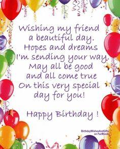 Wishing My Friend A Beautiful Birthday