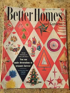 Better Homes And Gardens Magazine December 1954 Christmas Issue   Shipping  Included