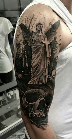 Angel-and-skull-tattoo