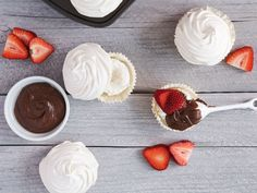 Meringue Cupcakes with Nutella and Strawberries from Serious Eats (http://punchfork.com/recipe/Meringue-Cupcakes-with-Nutella-and-Strawberries-Serious-Eats)