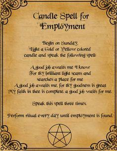 Candle Spell For Employment by minimissmelissa.deviantart.com on @deviantART