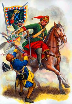 Charge of the Russian dragoons, Great Northern War