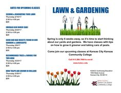 Upcoming Lawn and Garden Classes!