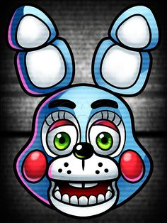 how to draw toy bonnie from five nights at freddys 2