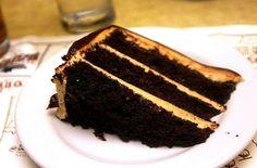 chocolade pindakaas taart mmmmm....