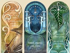 Lord of the Rings bookmarks by UnripeHamadryad.deviantart.com on @DeviantArt