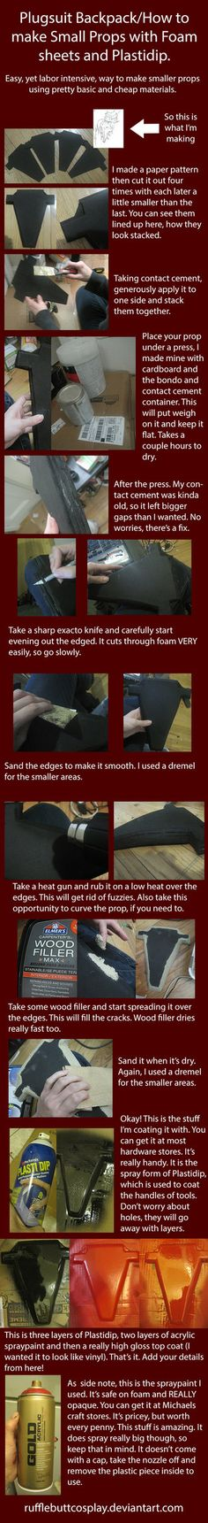 How to make Props with Plastidip and Foam Sheets by *RuffleButtCosplay on deviantART
