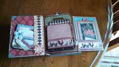 Build a page scrap book tutorial by Kathy Orta using G45 French Country paper