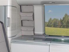"UTILITY fürs Schrankfenster VW T6/T5 California Ocean, Coast, Comfortline, Trendline. Design: ""Leder Moonrock""."