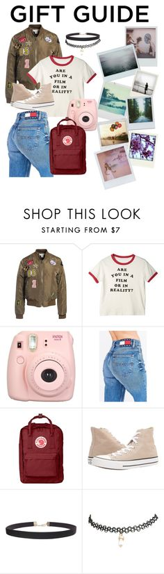 """""""For you,  Raven"""" by shaddie ❤ liked on Polyvore featuring Sans Souci, Fujifilm, Tommy Hilfiger, Fjällräven, Converse, Humble Chic, Wet Seal, Polaroid and Band of Outsiders"""
