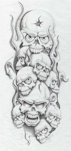 skull sesson by markfellows on deviantART Tattoo Design Drawings, Skull Tattoo Design, Skull Design, Skull Drawings, Tattoo Designs, Evil Skull Tattoo, Skull Tattoos, Body Art Tattoos, Evil Clown Tattoos