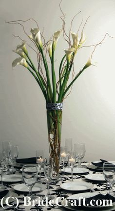 Calla Lily Centerpiece Photo: This Photo was uploaded by BrideCraft. Find other Calla Lily Centerpiece pictures and photos or upload your own with Photo. Church Pew Decorations, Wedding Flower Decorations, Wedding Flower Arrangements, Floral Arrangements, Wedding Flowers, Decor Wedding, Reception Decorations, Diy Wedding, Calla Lily Centerpieces