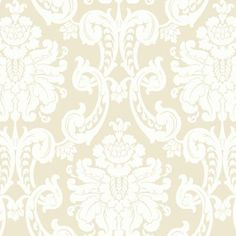 Wilshire Wallpaper in Ivory and Cream design by Ronald Redding