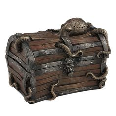 Details about Steampunk Octopus Treasure Chest Trinket Box Fantasy Home Decor Statue - interior design Casa Steampunk, Steampunk Bedroom, Steampunk Interior, Steampunk Home Decor, Steampunk Octopus, Steampunk Kitchen, Decoration Pirate, Decoration Ikea, Wall Decorations