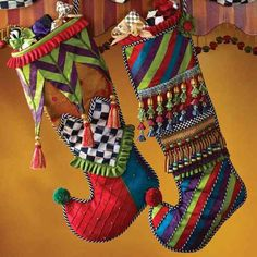 The Court Jester and Festoonery Stockings...so elaborately detailed and generously proportioned.