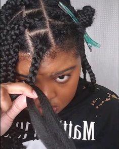 Braided Hairstyles Natural Hair, Hairstyles With Braiding Hair, Braids On Natural Hair, 4 Braids Hairstyle, Crochet Weave Hairstyles, Havana Twist Hairstyles, Box Braids Hairstyles For Black Women, Senegalese Twist Hairstyles, Braids Hairstyles Pictures