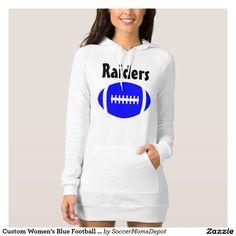 Custom Women s Blue  Football Hoodie Dress Don t Speak a4cb6392b