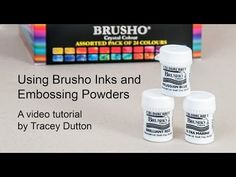 Introduction to Brusho Inks and Embossing Powders Here we have another tutorial, this time on the fabulous Brusho inks which we now sell in sets of 12 and 24. Brushos are a fantastic way to create …
